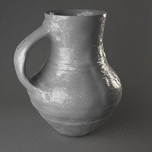 3d clay pot