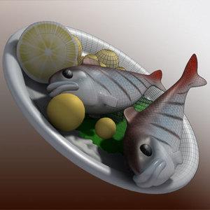 fish plate 3d model