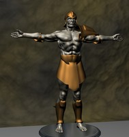 3ds max human warrior