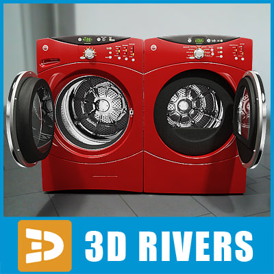 3d 3ds electric washer dryer