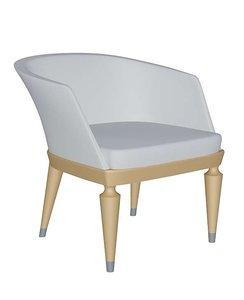 free cavus armchair giorgetti 3d model