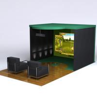 3d modern golf simulator