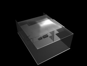 free glass home concept 3d model