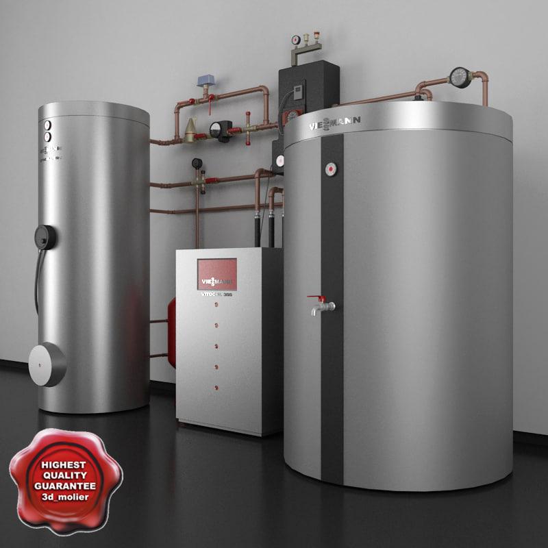 home heating viessmann 3d model