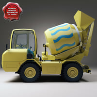 realistic mixer car davino 3d model