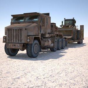 military loader excavator truck max
