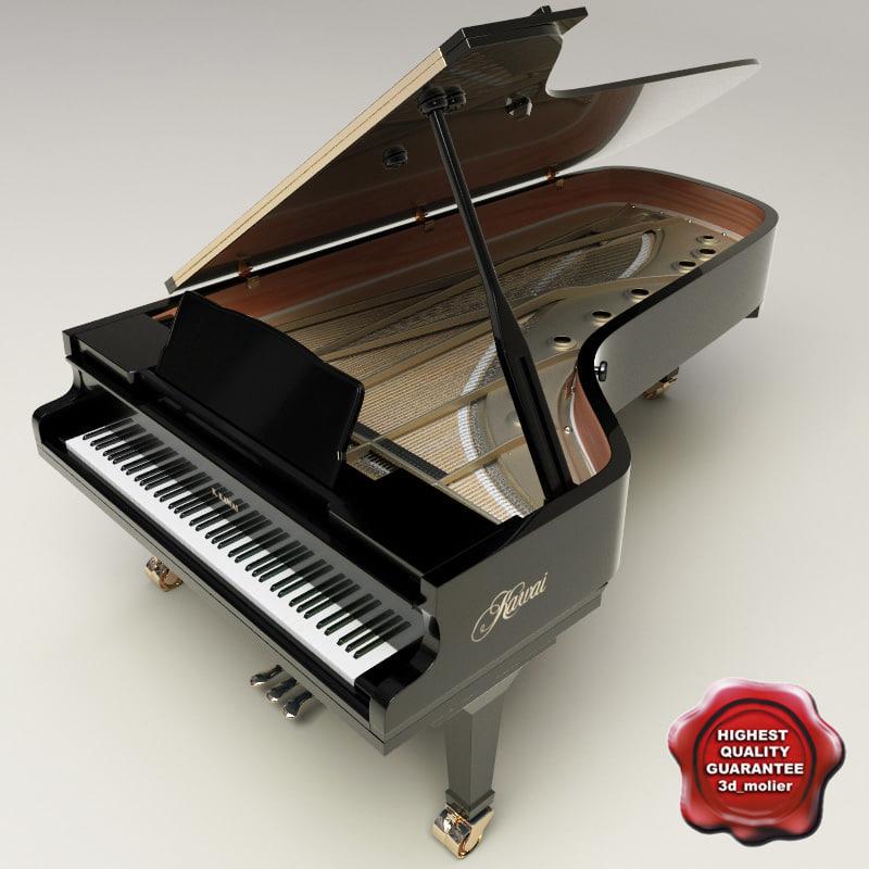 3ds max grand piano kawai