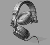 3d model headphone dj