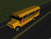school bus 3d c4d