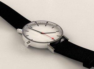 mondaine watch clock 3d model