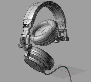 3d model headphone dj