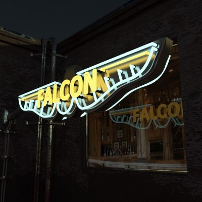 max exterior neon sign