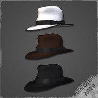 Tri-color fedora assortment