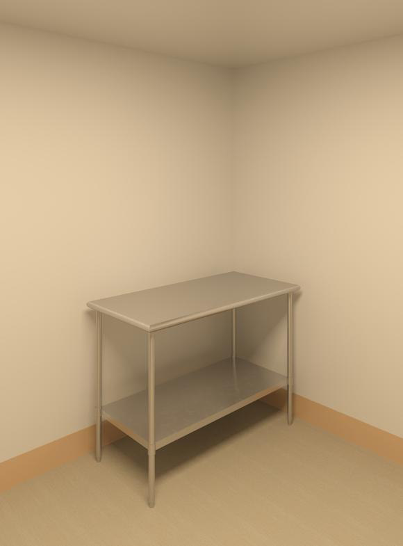 stainless steel table 3d max