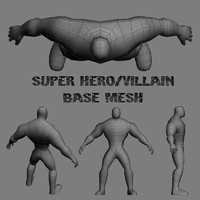 base hero villain 3d max