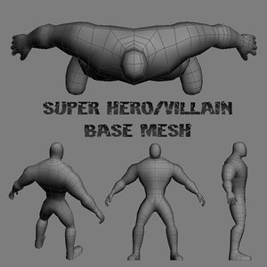 base hero villain 3d max