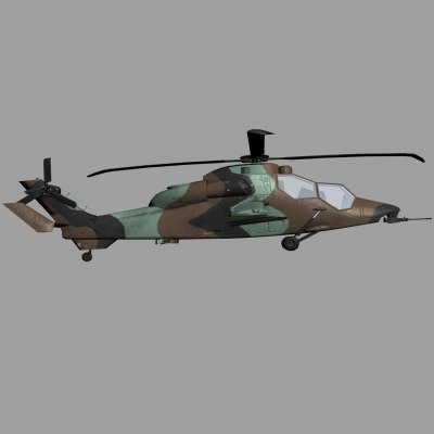 3d eurocopter tiger hap french model
