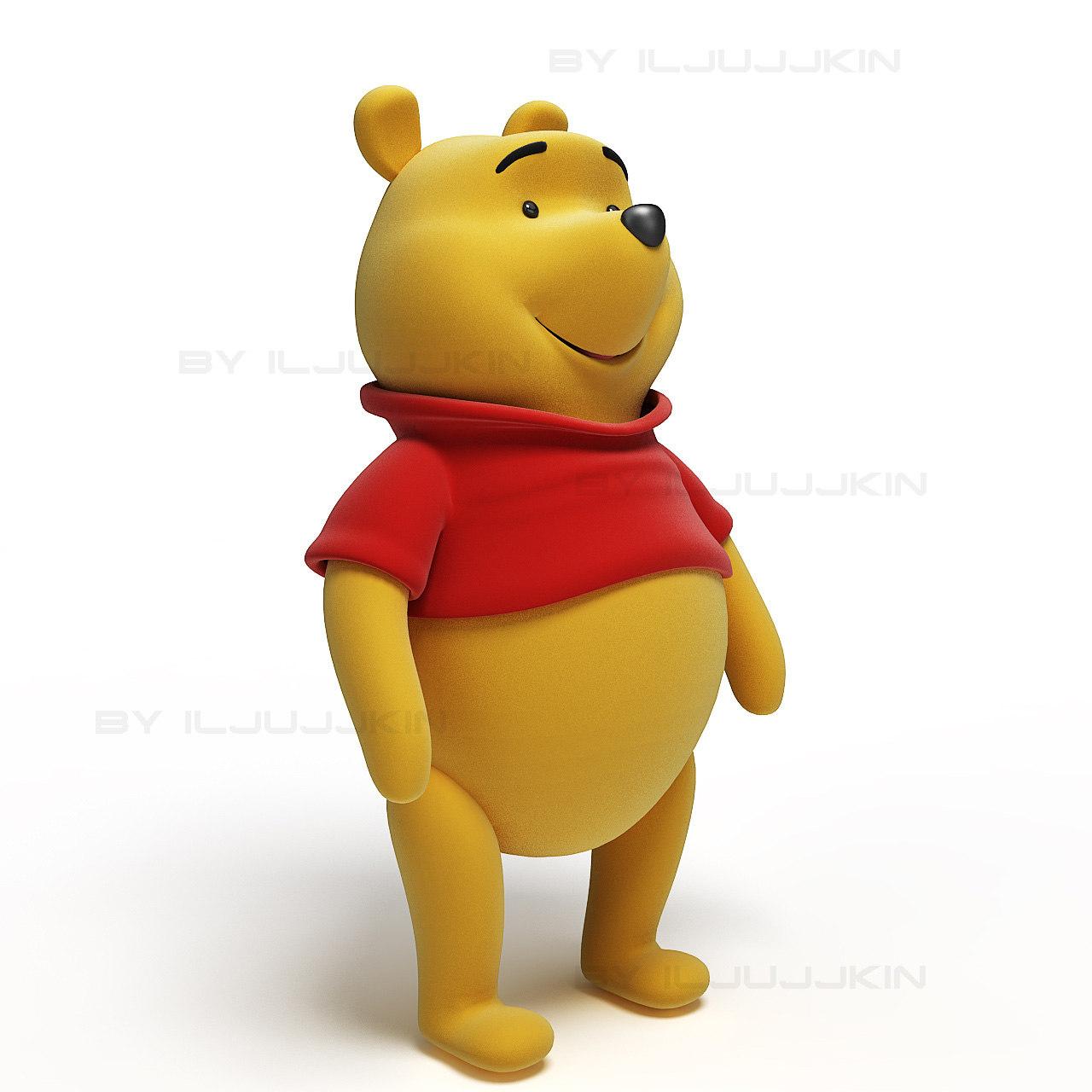 3d winnie pooh model