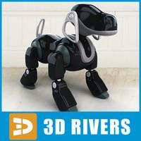 3d model toy robot aibo