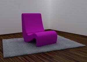 designed chair 3d model