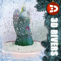 3d snow globe angel
