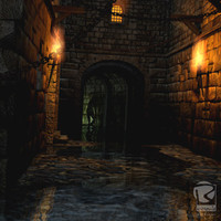 3d model fantasy backalley
