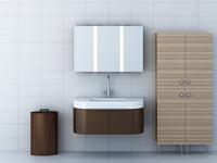 set bathroom furniture 3d model