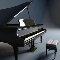 3d model concert piano