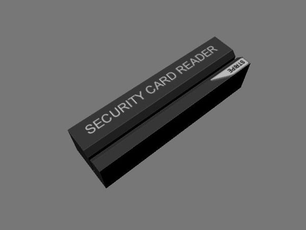security card reader 3d ma
