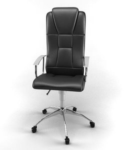 3d office chair leather