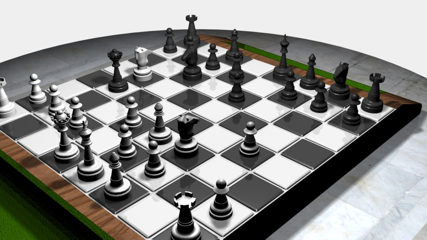 3ds max chess set