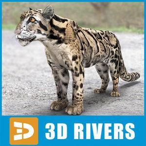3ds clouded leopard cats