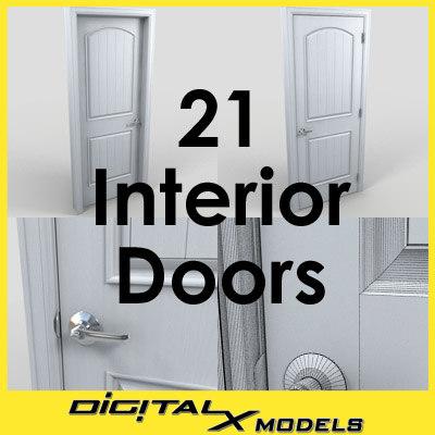 interior doors 3d model