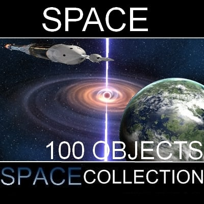 100 space objects 3d max
