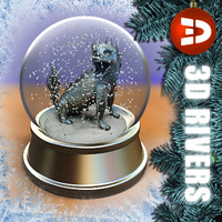 Chinese dragon snow globe 3DRivers