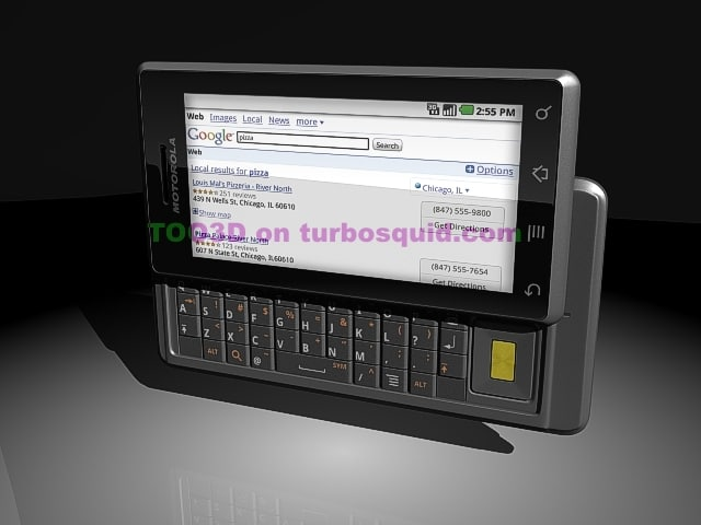 3d model motorola droid