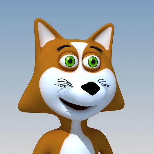 3d fox cartoon characters