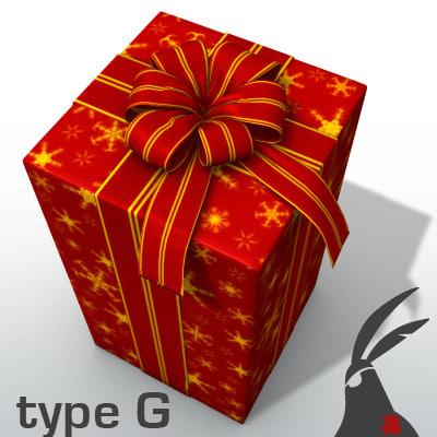 3d model gift box types