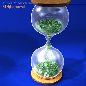 hourglass dollar 3d model