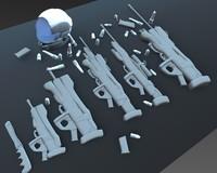 soldier alien 3d model