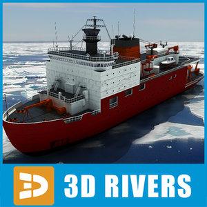 3dsmax healy icebreaker
