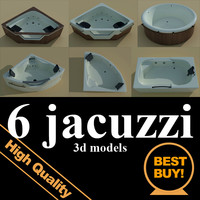 3d model 6 jacuzzi bath tubs
