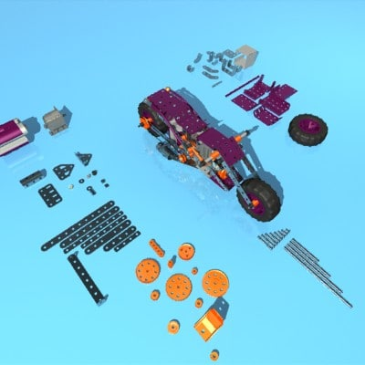 meccano kit motorcycle 3ds