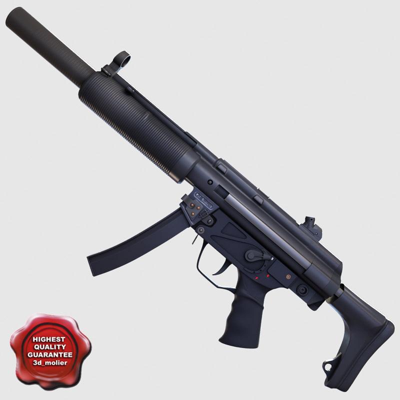 realistic submachine gun sd3 3ds