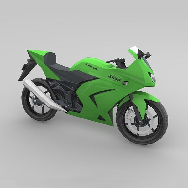 3d motorcycle kawasaki ninja model