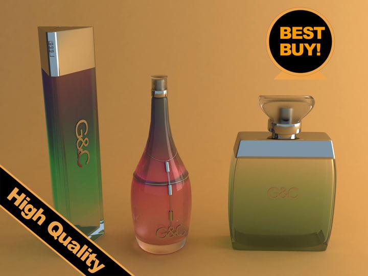 3ds max perfume bottles