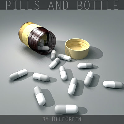 bottle pills 3d model