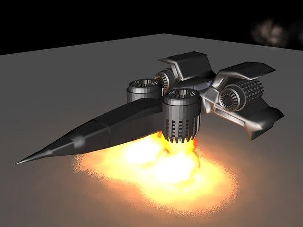 c4d space ship