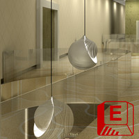 modern design pendent light fixture 3d max
