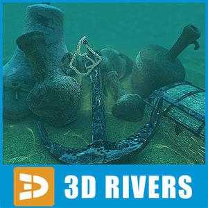3d model sunk objects sunken